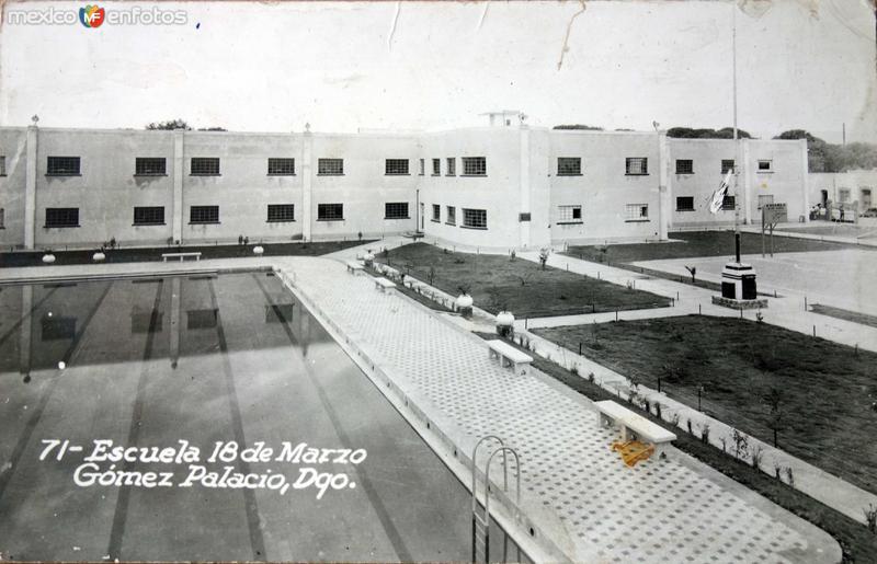 Escuela 18 de Marzo alla por 1930-1950