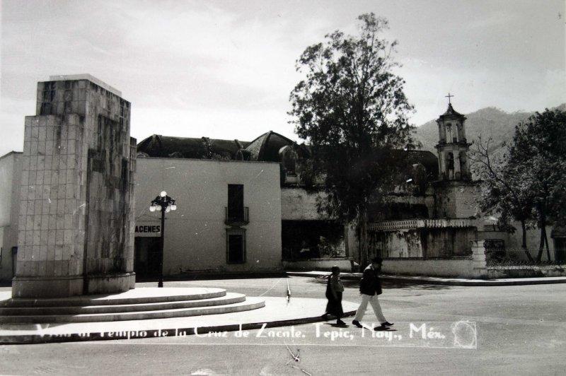 Vista de el templo de la cruz de zacate.