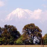 Vista del volcán Pico de Orizaba