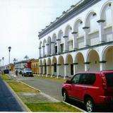 Calle t�pica con portales. Tlacotalpan, Veracruz