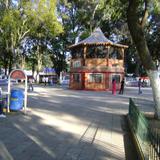 Parque central y kiosko en Huejotzingo, Puebla