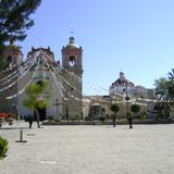Atrio y templo de la Asunción del siglo XVII. Tlacolula de Matamoros, Oaxaca