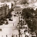 Una calle de Pachuca