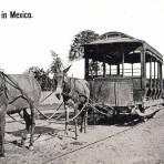 Travía antiguo tirado por burros