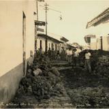 Calle de Vi�as, en periodo de reconstrucci�n, de 1929