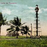 Faro en la barra de Tampico