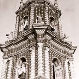 Campanario del templo de Santa María Tonantzintla