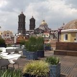 Las torres de la Catedral desde la terraza del Museo Amparo. Mayo/2014