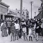Mercado en Monterrey  Hacia 1900
