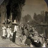 Mercado de la Viga  Hacia 1900