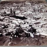 Panoramica con Torre de Iglesia Incompleta Hacia 1900