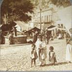 Mercado y Fuente Hacia 1900