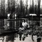 Chalupas en el Xochimilco Hacia 1945