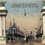 Recibimiento al Presidente Taff y Porfirio Diaz  Hacia 1909