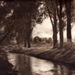 El Popocat�petl, desde Amecameca (circa 1920)