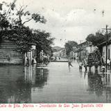 Inundaci�n de Villahermosa, en 1909: Calle de Do�a Marina