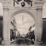 Arco triunfal en las Fiestas Hacia 1906