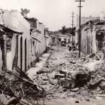 Destrucci�n en la Calle Venustiano Carranza por el sismo de 1941