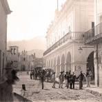 Monterrey, Costado del Palacio Municipal, 1888