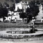 Jardin Revoluccion y Fuente Hacia 1945