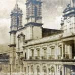 Catedral y Palacio de Colima Hacia 1945