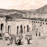Zacatecas, calle t�pica con arriero