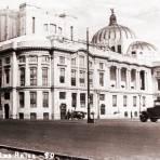 Vista anterior del Palacio de Bellas Artes
