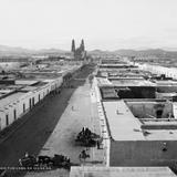 Vista panor�mica de Chihuahua desde la Casa de Moneda (por William Henry Jackson, c. 1888)