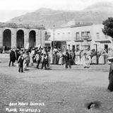 Plaza de la ciudad de Zacatecas y Cerro de la Bufa al fondo (Bain News Service, c. 1915)