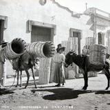 TIPOS MEXICANOS VENDEDORES DE CANASTOS Hacia 1945