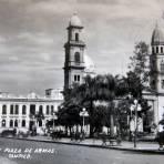 CATEDRAL Y PLAZA DE ARMAS Hacia 1945