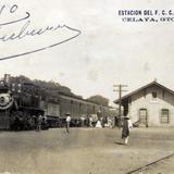 ESTACION FERROVIARIA EL DIA 20 DE ENERO DE 1910 hacia 1910