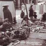 TIPOS MEXICANOS  vendedoras de Flores Hacia 1930