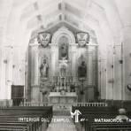 INTERIOR DEL TEMPLO  hacia 1945 - Matamoros, Tamaulipas