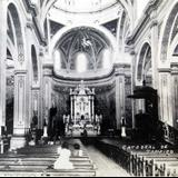 INTERIOR DE  CATEDRAL PANORAMA Hacia 1930