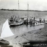 CANOAS EN EL RIO COATZACOALCOS Circa 1930-1950