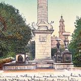 Fuente central en la Plaza de Armas