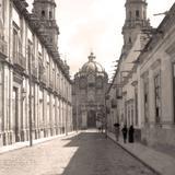 Morelia, calle frente a Catedral