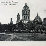 JARDIN E IGLESIA DE SAN FRANCISCO Circa 1900-1920