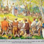 El ejército insurgente oyendo misa en el Monte de las Cruces