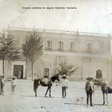 Escena cotidiana en alguna Hacienda mexicana hacia 1900-1930