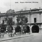 El Palacio Municipal por el fotografo Felix Miret hacia 1900-1920 - Monterrey, Nuevo León