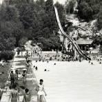 Balneario Agua Azul  hacia 1908 - Puebla, Puebla