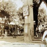 Aguador y el Palacio Municipal de Quiroga Michoacan Hacia 1930-1950