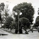 La Plaza principal Hacia 1930-1950 - La Piedad, Michoacán