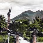 La Plaza 5 de Mayo y Mto. a Juarez hacia 1930-1950 - Monterrey, Nuevo León
