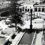La Plaza principal circa 1930-1950 - Tepic, Nayarit