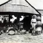 Tipos Mexicanos Vendedores de Ollas y Cantaros alrededor de 1930-1950 - Oaxaca, Oaxaca