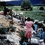 Tipos mexicanos Lavanderas de Oaxaca alla por 1950-1960