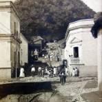 Escena callejera Posiblemente de Chapala o El Penon de Mexico D F fechada el 29 de Dic. 1906